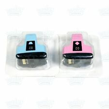 2 Genuine HP 02 Light Cyan/Light Magenta Ink C5180 C6180 C8180 D6160 D7260 D7460