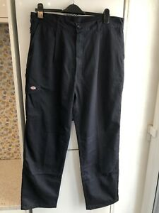 Dickies Redhawk Navy Work Trousers Size 38x31 Fab Condition