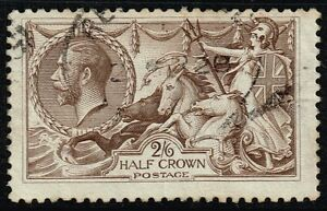George V 1918-19 2s.6d. pale brown, used (SG#415a)