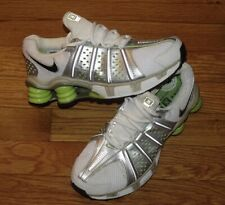Nike Shox Womens White/Silver/Green Vintage Size Size 7 From 2005, New!