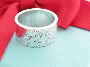 Tiffany & Co Notes 727 Fifth Avenue New York, NY 10022 Wide Band Ring Size 5