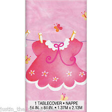 Baby Shower GIRL Pink Party Tableware Supplies Girls Clothesline Tablecover