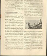 ILE D' ELBE ISOLA ELBA ARTICLE PRESSE INSTALLATION MINERAI FER RIO ALBANO 1912