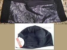 NWT Lululemon Frosty Run Toque Hat Reflective Lace Black Fleece W/ Ponytail Hole