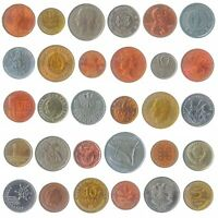 SET OF 30 COINS FROM 30 DIFFERENT COUNTRIES COINS LOT