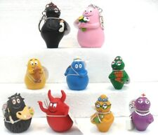 """PLASTOY-BARBAPAPA serie di 9 personaggi """"INTERA FAMIGLIA"""" gomma/plastica"""