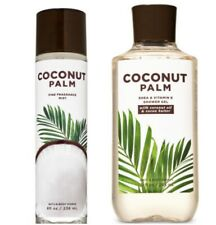 2 Piece Bath Body Works COCONUT PALM Fragrance Mist Shower Gel Set