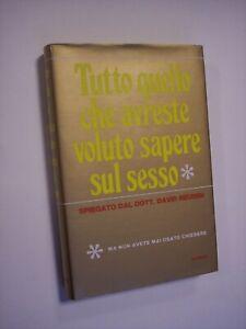 REUBEN David: TUTTO QUELLO CHE AVRESTE VOLUTO SAPERE SUL SESSO, Sansoni 1971