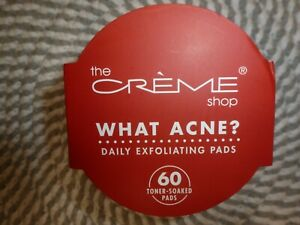 THE CREME SHOP~~60 TONER-SOAKED PADS~~DAILY EXFOLIATING PADS 4.56 OZ