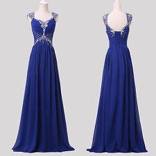 CHEAP NEW bridesmaid Formal Evening Prom Ball Gowns Long Party Maxi Blue Dresses