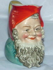 rare vintage Schafer & Vater ? figural Gnome Wood Elf creamer unmarked Germany