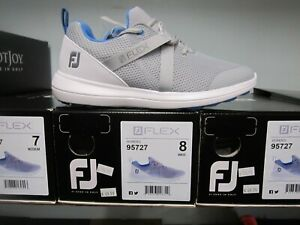 Ladies FootJoy Flex Spikeless Golf Shoes Gray/Blue Sz 10M Discontinued Style