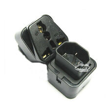 UPS IEC C14 to Universal Female AU US UK EU C13 Socket Power Adapter AC Plug