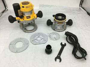 DeWALT DW618PKB 2-1/4 HP Fixed Base Plunge Router Tool Combo Kit, GR