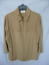 Dana Buchman  Saks Fifth Avenue Biege Zipper  Jacket  Size 16