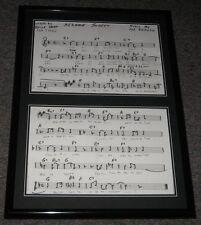 Sesame Street Theme Song Lyrics Official Repro Framed 20x28 Display