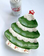 Hallmark Christmas Tree Shaped Serving Plate Dish for Dessert Snack Cookies