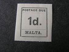 MALTA, SCOTT # J2, 1p. VALUE 1925 POSTAGE DUE ISSUE MVLH