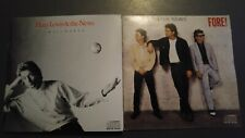 HUEY LEWIS 2 CDS 1988 SMALLWORLD CRC mint! 1986 FORE! exc! HIP TO BE SQUARE ROCK