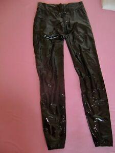 Shiny Stylez Luxery Schritt-Zip Leggings Gr. S Schwarz Lack PussyRiot Lackhose