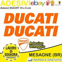 2 Adesivi Sticker DUCATI serbatoio 916 996 998 999 748 PANIGALE FACTORY ARANCIO