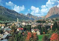 """Rare Vintage Scenic Postcard - """"Cortina D'ampezzo"""" Ski Resort - Italy Unposted."""