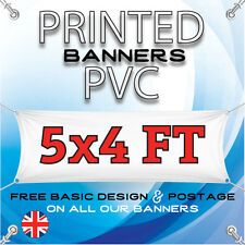 5FT X 4FT PVC BANNER - OUTDOOR SIGN - PERSONALISED ADVERTISEMENT VINYL PRINT