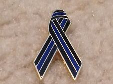 Police Officer Thin Blue Line Cop Awareness Ribbon Mourning Badge Hero TBL Pin