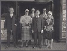 1928? CABINET PHOTO ASHTABULA OH GROUP AT THEATRE RIN TIN TIN MOVIE