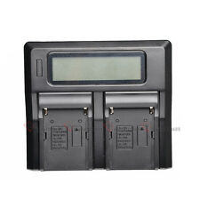 LP-E6 Dual Channel LCD Digital Battery Charger For Canon 70D 60D 6D 7D 5D2 5D3
