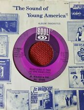 Jr Walker All Stars 45 What Does it Take / Brainwashed soul funk 1969 VG+
