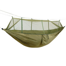 Portable Outdoor Camping Hammock With Mosquito Net Hanging Bed Sleeping Swing