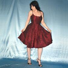 schwingendes SATIN COCKTAILKLEID* S Partykleid* Abendkleid* Tanzkleid* Ballkleid