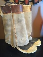 Vintage Ranger Fire Master Fire Fighter Size 7 Chicago Style 3/4 Fireman Boots