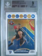 2008-09 Topps Chrome Refractor #184 Russell Westbrook Rookie Rc BGS 9 Mint