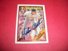 LES STRACKER SIGNED TWINS CARD #264 TOPPS 1988