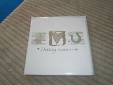 WEDDING  INVITATIONS. 6 CARDS with  ENVELOPES.  NEW