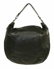 Ralph Lauren Purple Label Black Leather Horseshoe Hobo Bag New