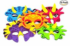 10 X Niños Dinosaurio Fantasía Vestido Espuma Mascarilla Eva Animal Máscaras Relleno Bolsa Fiesta