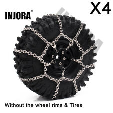 4Pcs Metal Anti-skid Snow Tyre Chain for 1/10 RC Traxxas TRX4 SCX10 1.9inch Tire