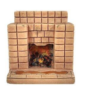 Kaybot Or Kay Miniatures Fireplace Coal Plaster Vintage Dolls House 7x6.5x3cm