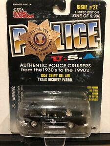 1/64 RACING CHAMPIONS POLICE USA 1957 CHEVROLET BEL AIR TEXAS HIGHWAY PATROL