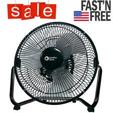 Industrial Grade Floor Fan High Velocity 3 Speed Heavy Duty Commercial Black