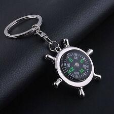 Unisex Fashion Compass Metal Car Keyring Keychain Key Chain Ring Keyfob Gift