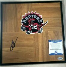 Toronto Raptors VINCE CARTER  Signed Framed Floorboard 12x12 BECKETT S51822