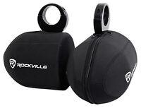 "Pair Rockville RWBC Neoprene Covers For 6.5"" Marine Wakeboard Tower Speakers"