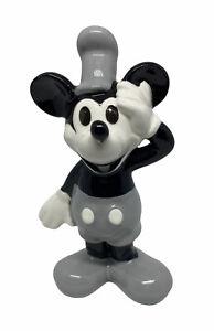 "Vintage Disney Steamboat Mickey Mouse Ceramic Figurine 3.5"" Tall"