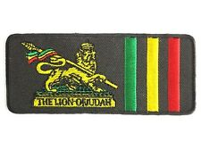 Rasta Lion Of Judah Reggae Selassie Ethiopia Iron On Sew On Jacket Patch