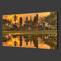 BUDDHA TEMPLE CANVAS PRINT PICTURE WALL ART FREE FAST UK DELIVERY
