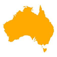 Australia forma Auto Finestrino Paraurti Muro in Vinile Decalcomania Adesivo souvenir ORO GIALLO